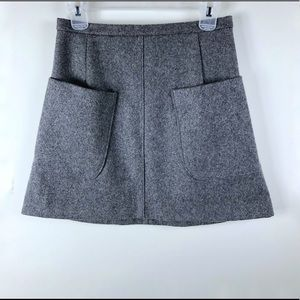 Talula Grey Wool Skirt